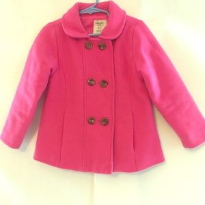 Girls 5T pink pea coat- warm Easter Coat